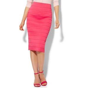 NY&Co Pink Bandage Pencil Skirt